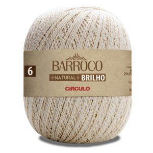 Barbante Barroco nº6 Natural Brilho - Circulo
