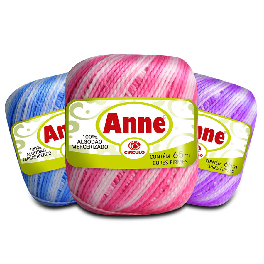 Linha Anne 65m Multicolor - Circulo