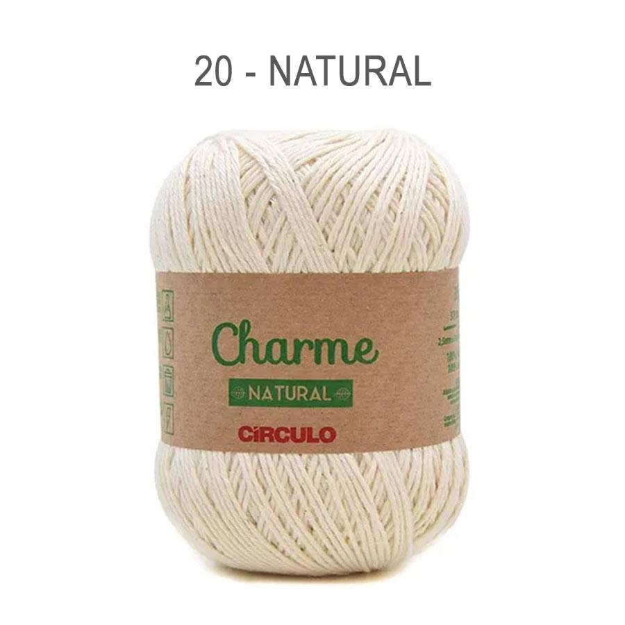 Linha Charme 396m Cores Lisas - Circulo - 20 - Natural