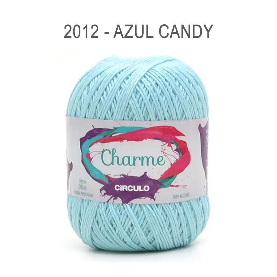 Linha Charme 396m Cores Lisas - Circulo - 2012 - Azul Candy