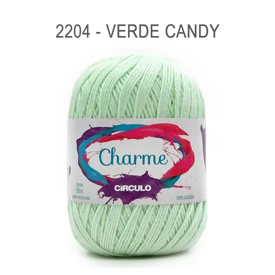 Linha Charme 396m Cores Lisas - Circulo - 2204 - Verde Candy