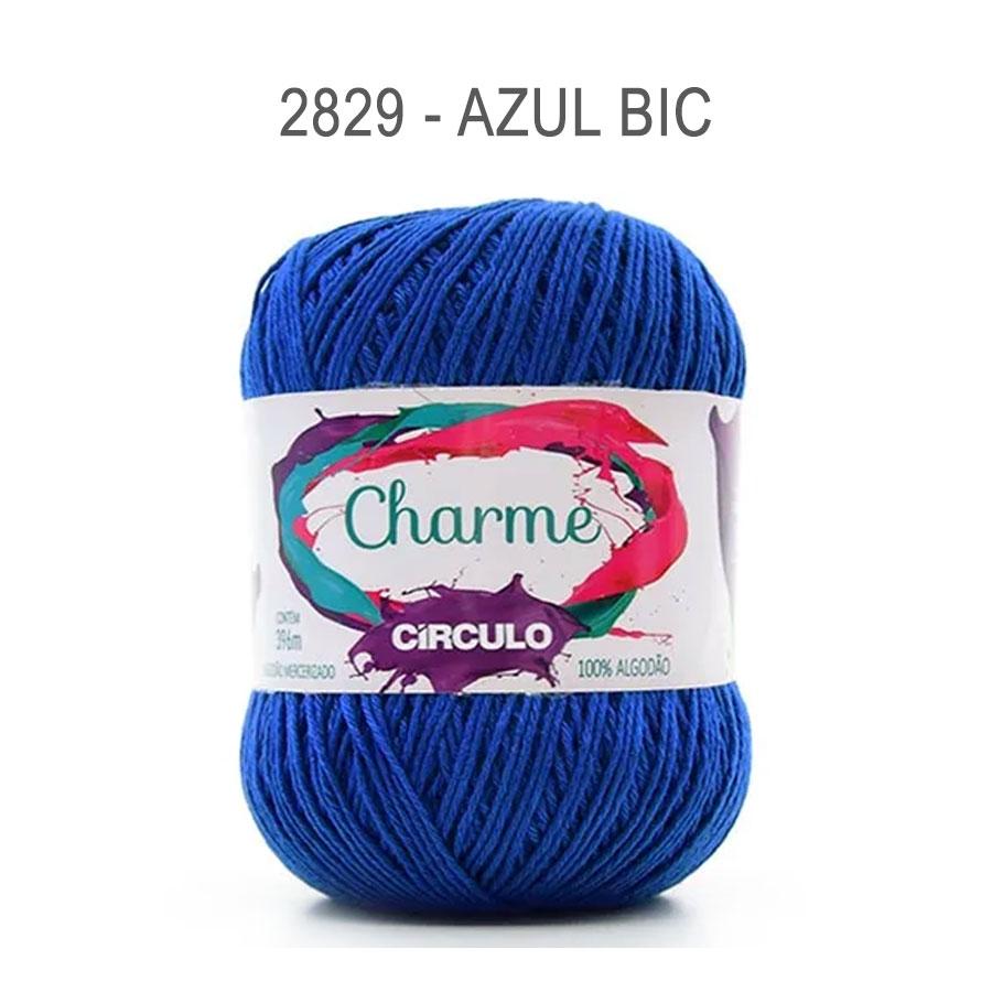Linha Charme 396m Cores Lisas - Circulo - 2829 - Azul Bic