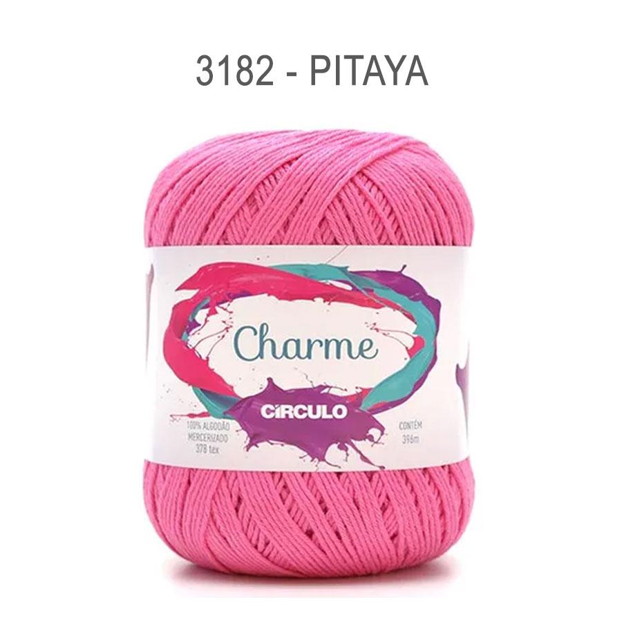 Linha Charme 396m Cores Lisas - Circulo - 3182 - Pitaya