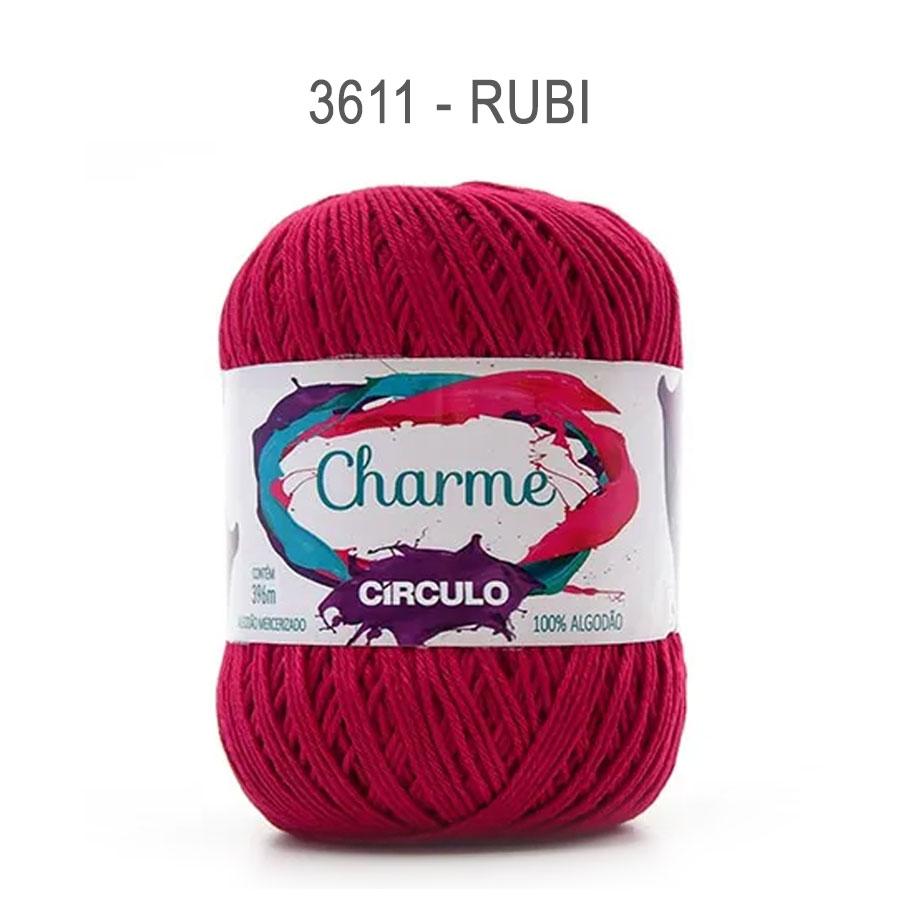Linha Charme 396m Cores Lisas - Circulo - 3611 - Rubi