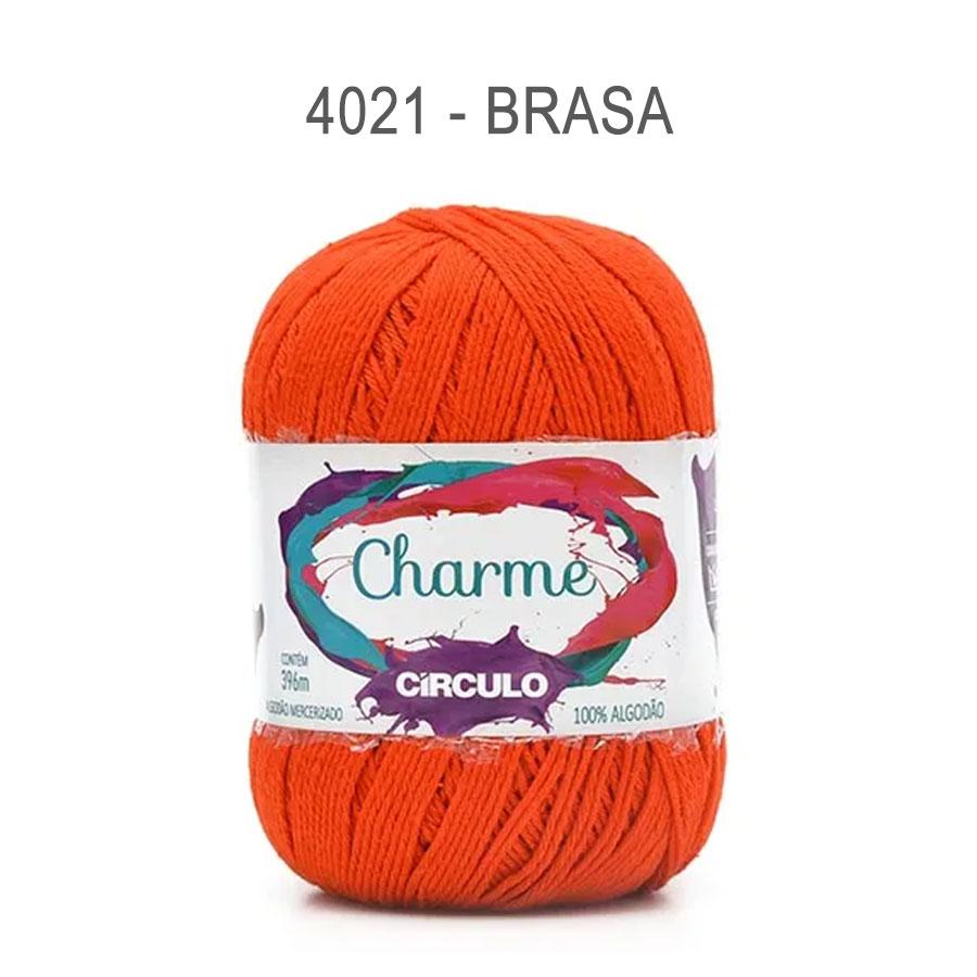 Linha Charme 396m Cores Lisas - Circulo - 4021 - Brasa