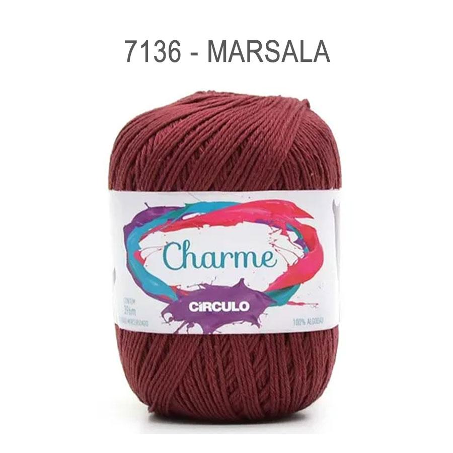 Linha Charme 396m Cores Lisas - Circulo - 7136 - Marsala