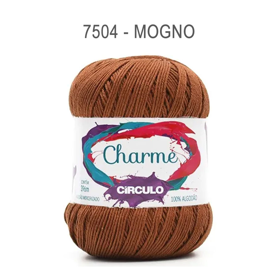 Linha Charme 396m Cores Lisas - Circulo - 7504 - Mogno