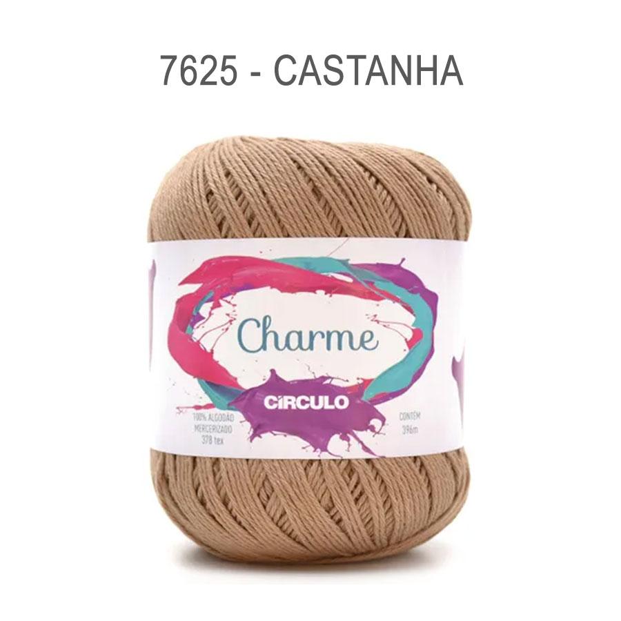 Linha Charme 396m Cores Lisas - Circulo - 7625 - Castanha