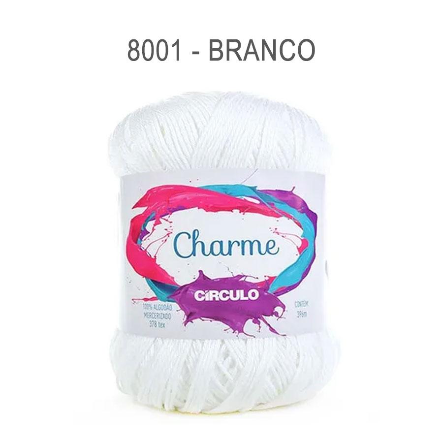 Linha Charme 396m Cores Lisas - Circulo - 8001 - Branco