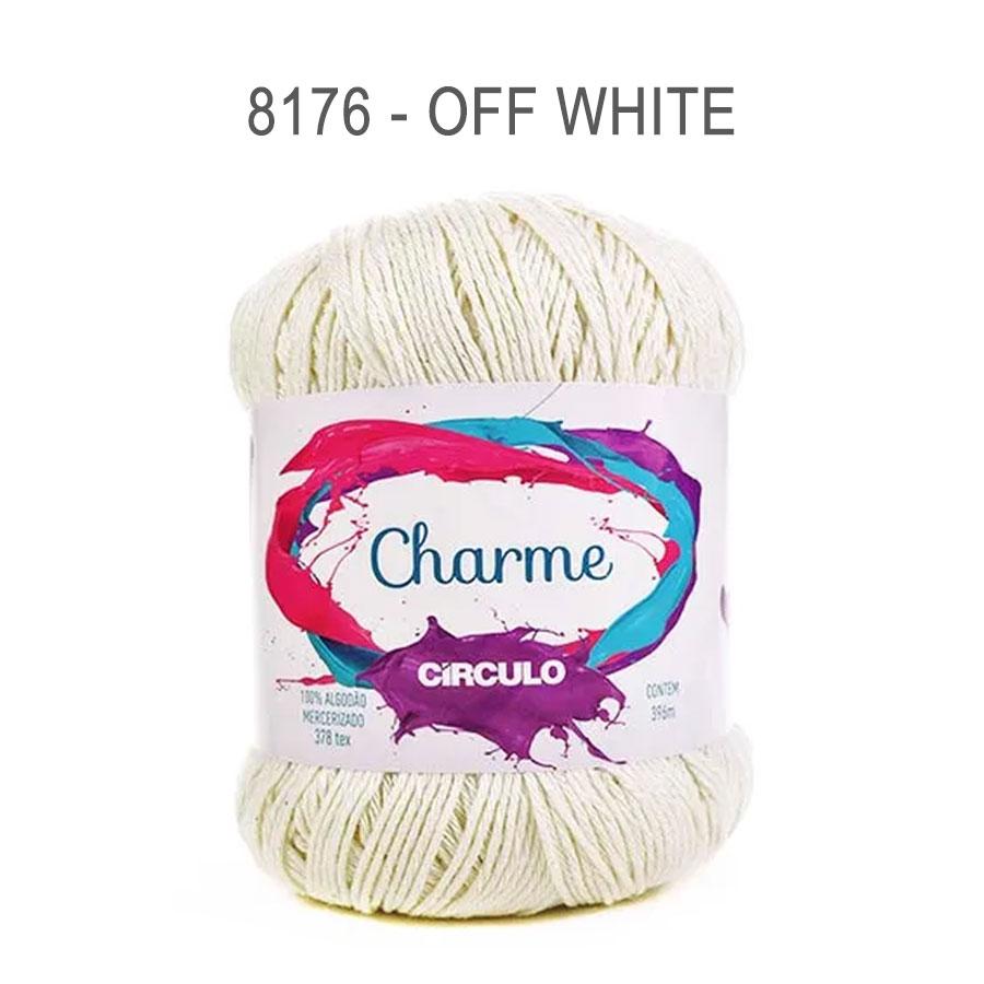 Linha Charme 396m Cores Lisas - Circulo - 8176 - Off White