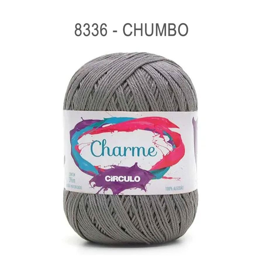 Linha Charme 396m Cores Lisas - Circulo - 8336 - Chumbo