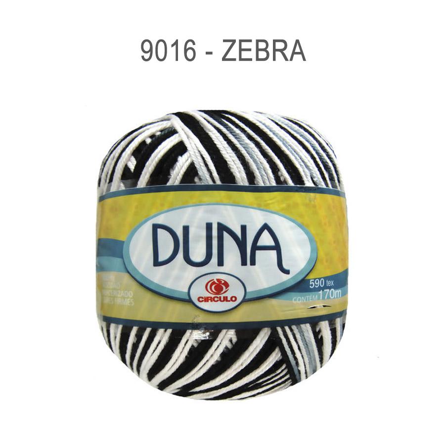 Linha Duna 100g Multicolor - Circulo - 9016 - Zebra