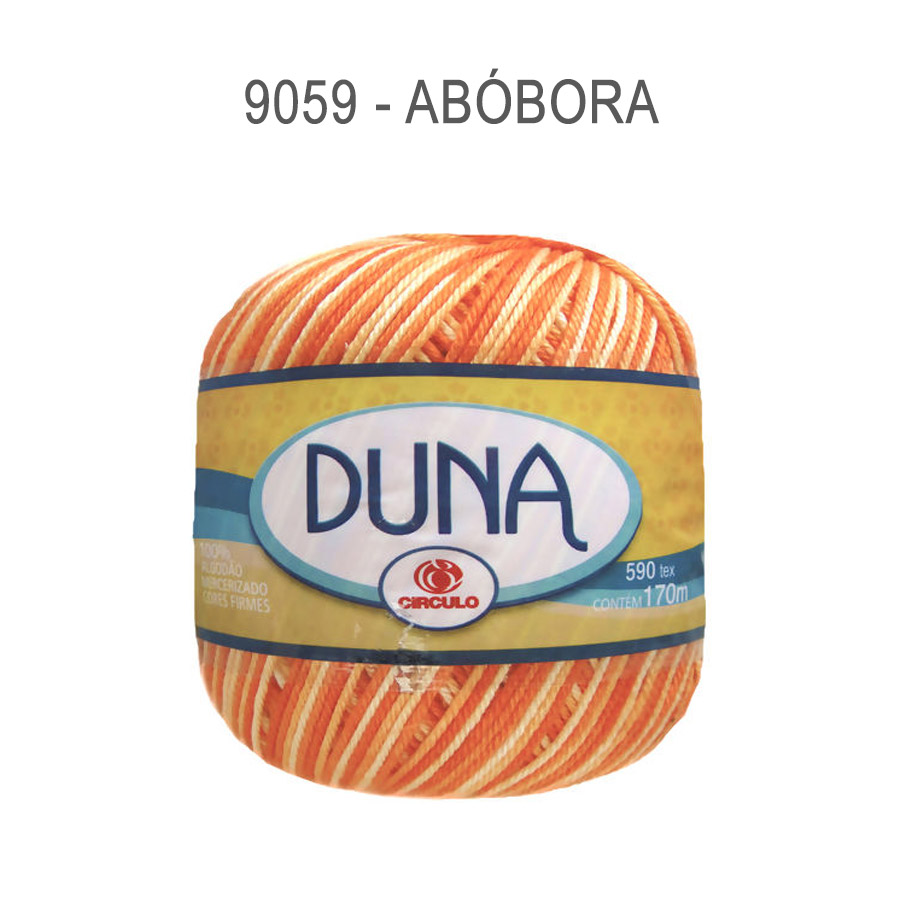 Linha Duna 100g Multicolor - Circulo - 9059 - Abóbora
