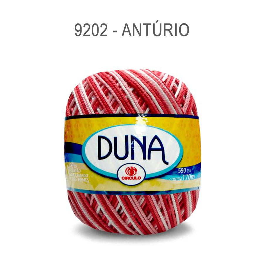 Linha Duna 100g Multicolor - Circulo - 9202 - Antúrio