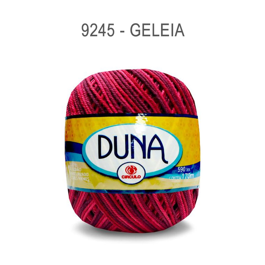Linha Duna 100g Multicolor - Circulo - 9245 - Geleia
