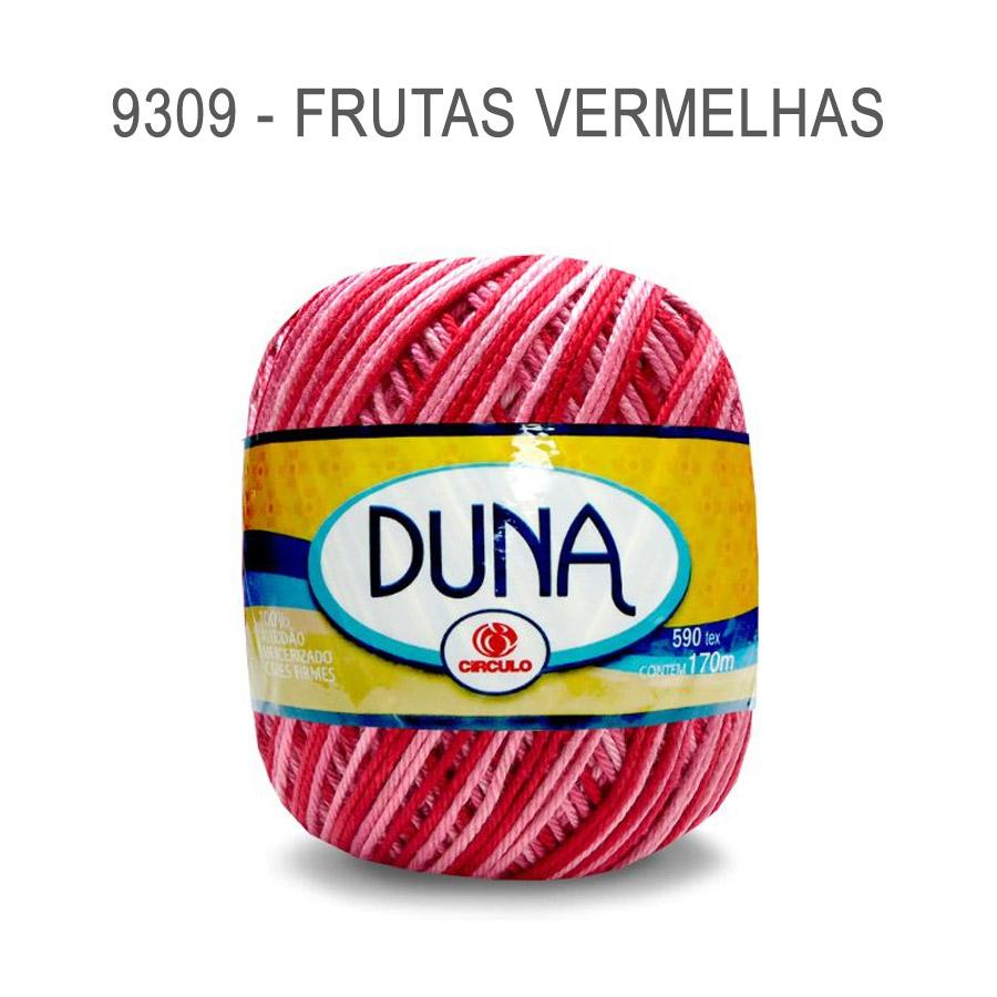 Linha Duna 100g Multicolor - Circulo - 9309 - Frutas Vermelhas