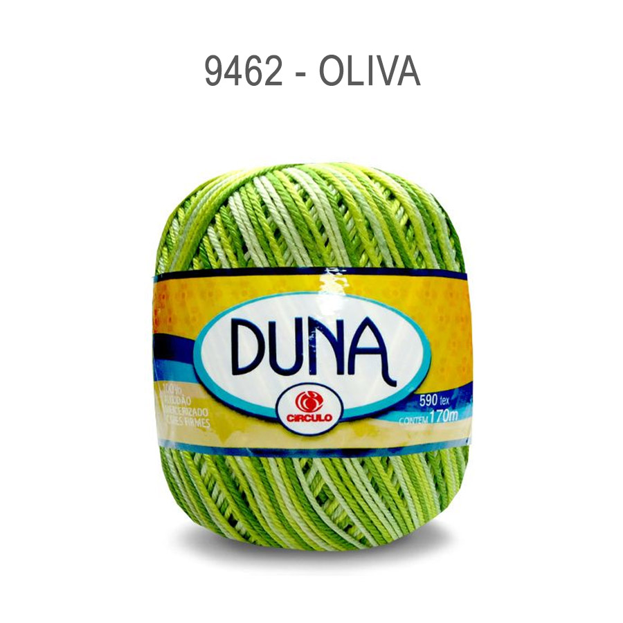 Linha Duna 100g Multicolor - Circulo - 9462 - Oliva