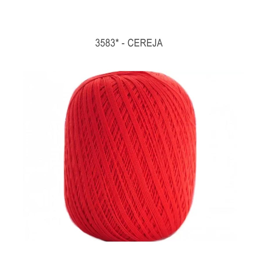 Linha Cléa 1000 Cores Lisas - Circulo - 3583 - Cereja