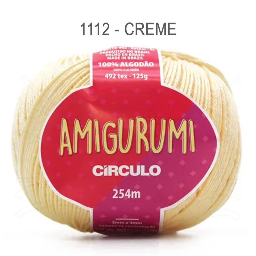 Linha Amigurumi 254m - Circulo - 1112 - Creme