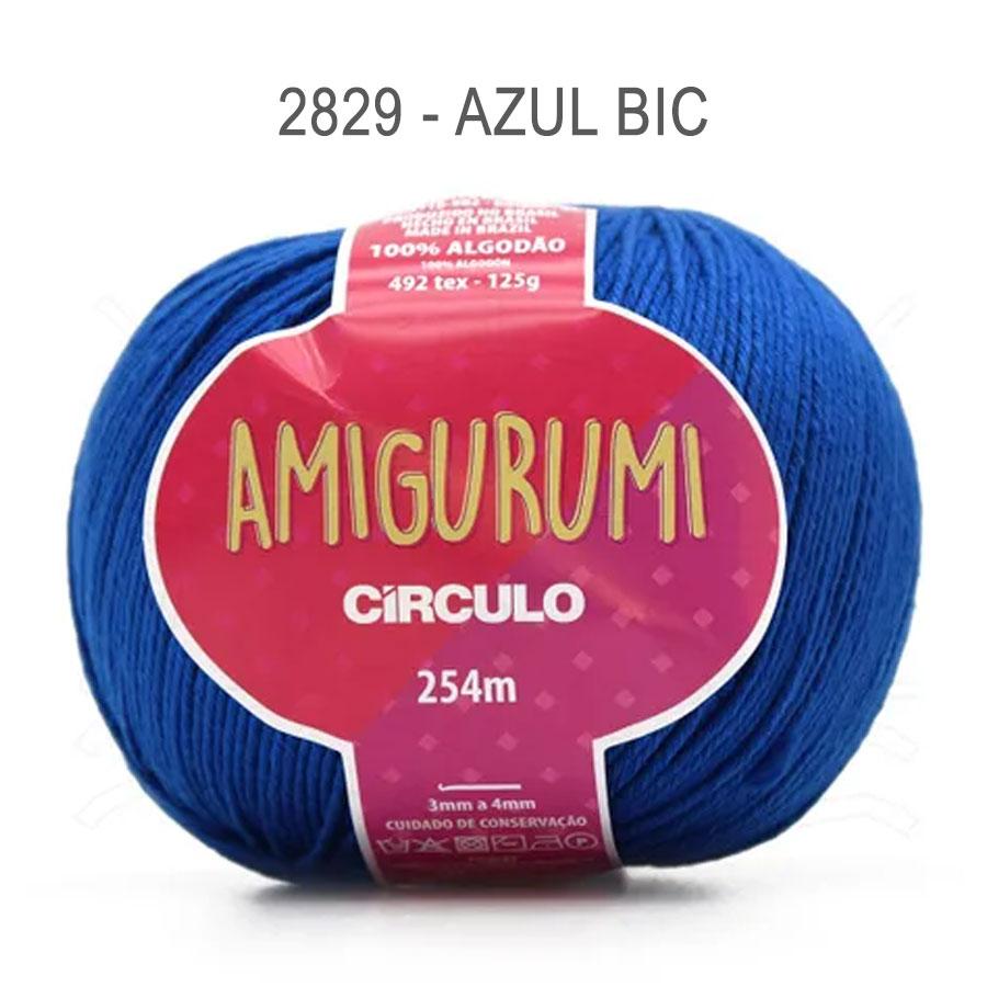 Linha Amigurumi 254m - Circulo - 2829 - Azul Bic
