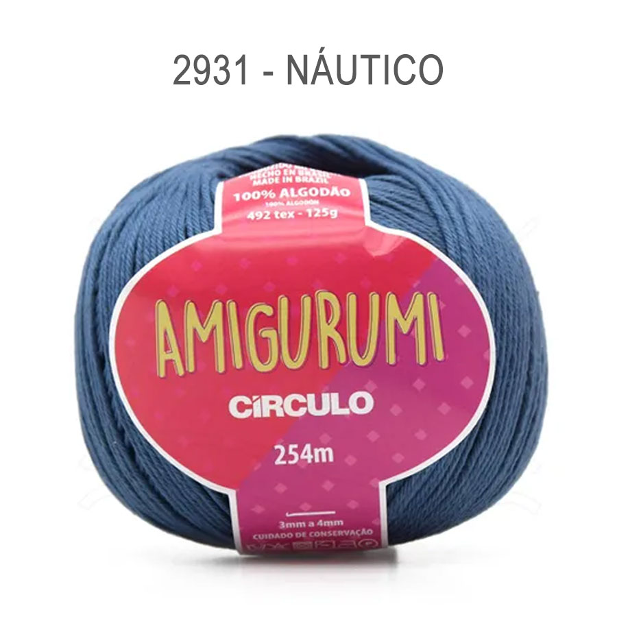 Linha Amigurumi 254m - Circulo - 2931 - Náutico