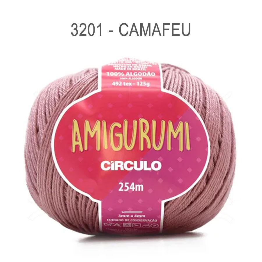 Linha Amigurumi 254m - Circulo - 3201 - Camafeu