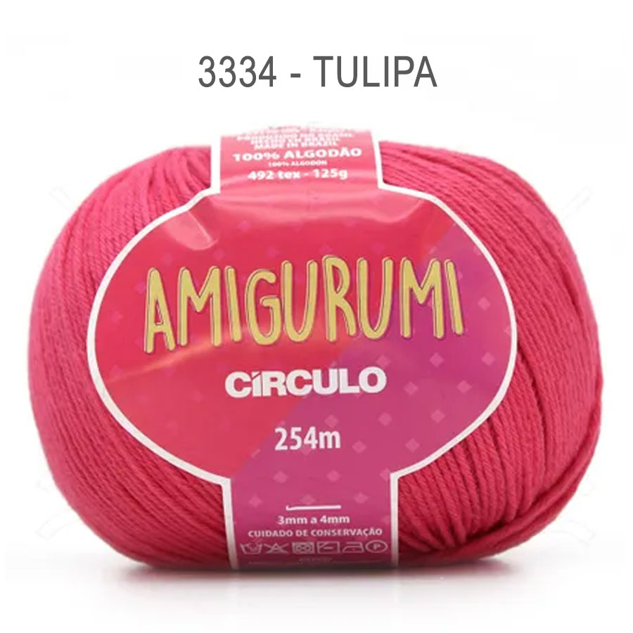 Linha Amigurumi 254m - Circulo - 3334 - Tulipa