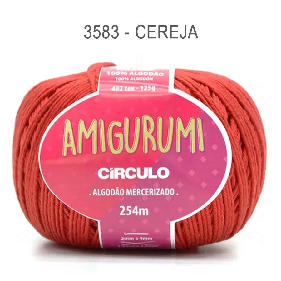 Linha Amigurumi 254m - Circulo - 3583 - Cereja