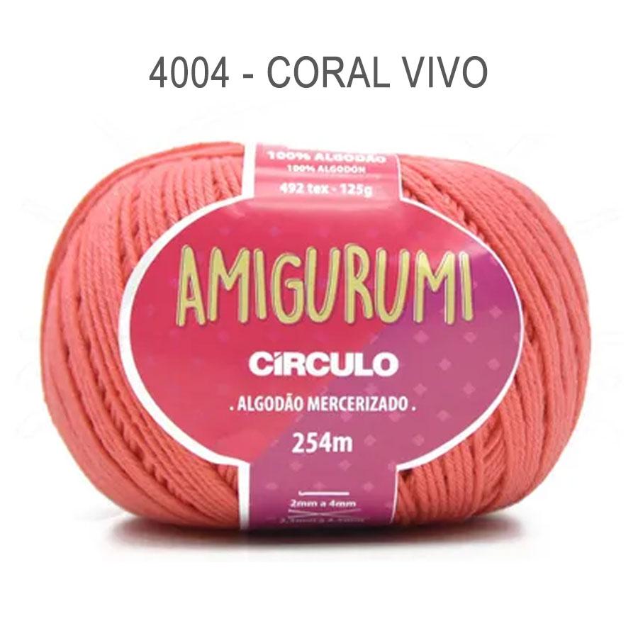 Linha Amigurumi 254m - Circulo - 4004 - Coral Vivo