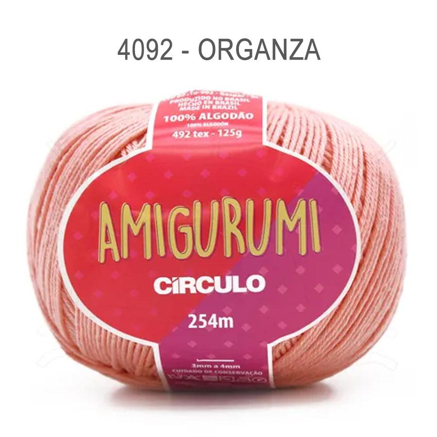 Linha Amigurumi 254m - Circulo - 4092 - Organza