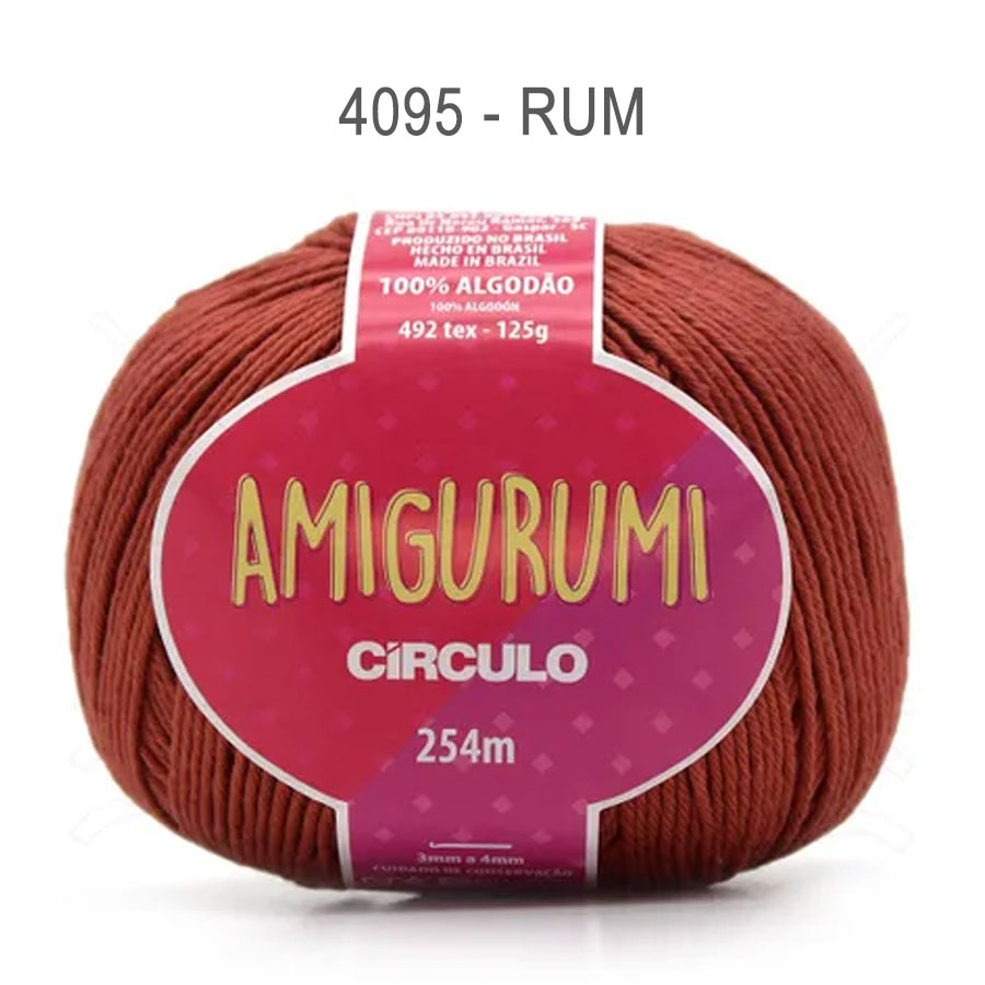 Linha Amigurumi 254m - Circulo - 4095 - Rum