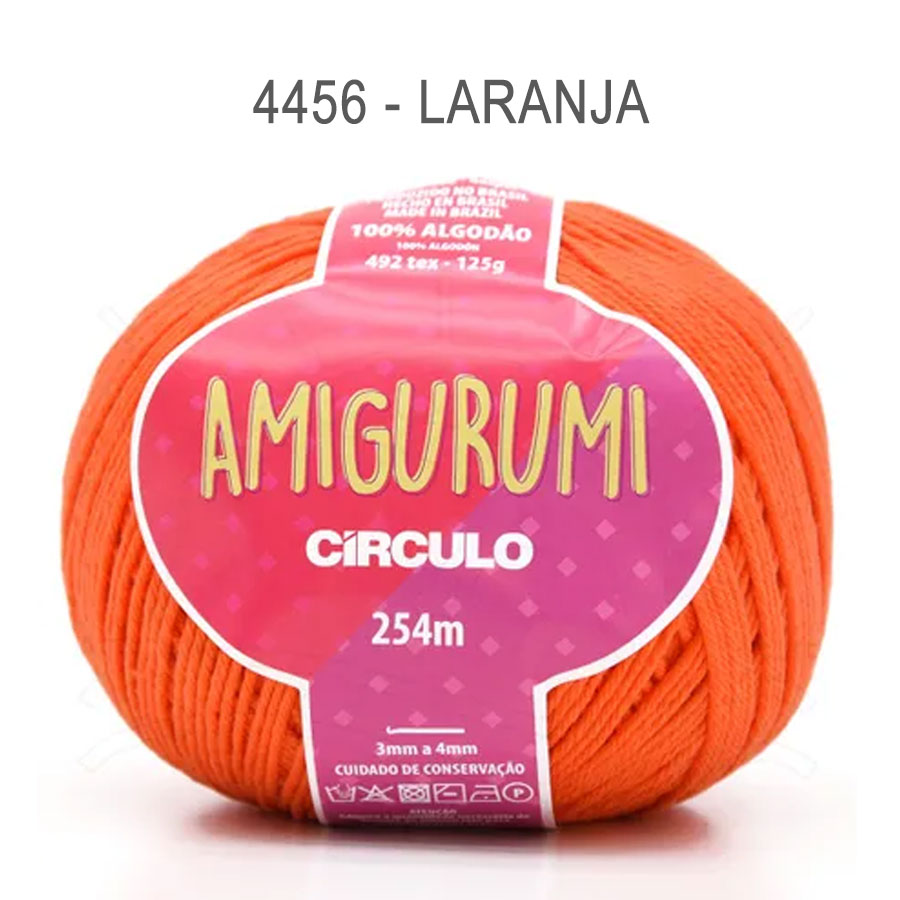 Linha Amigurumi 254m - Circulo - 4456 - Laranja