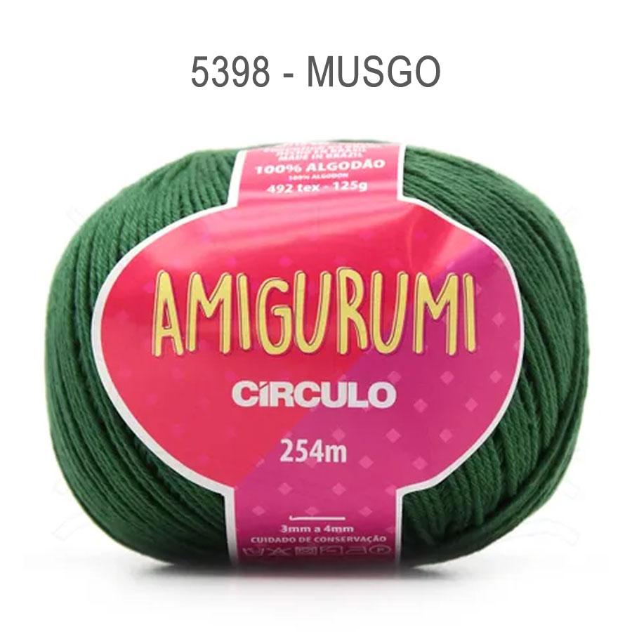 Linha Amigurumi 254m - Circulo - 5398 - Musgo