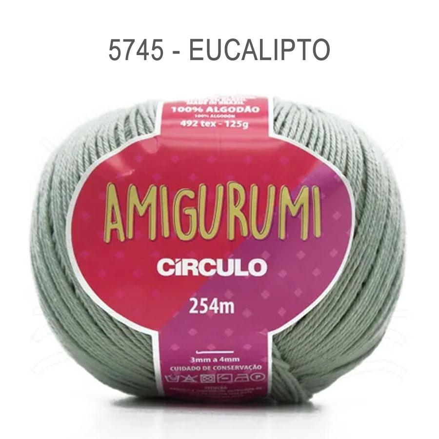 Linha Amigurumi 254m - Circulo - 5745 - Eucalipto