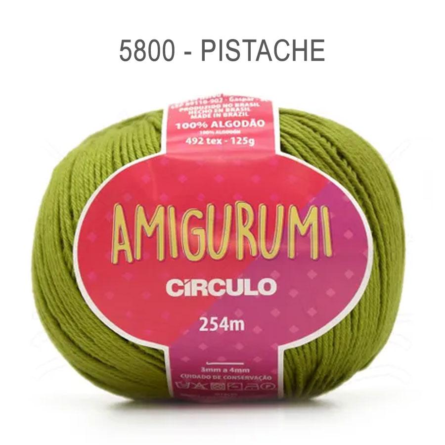 Linha Amigurumi 254m - Circulo - 5800 - Pistache