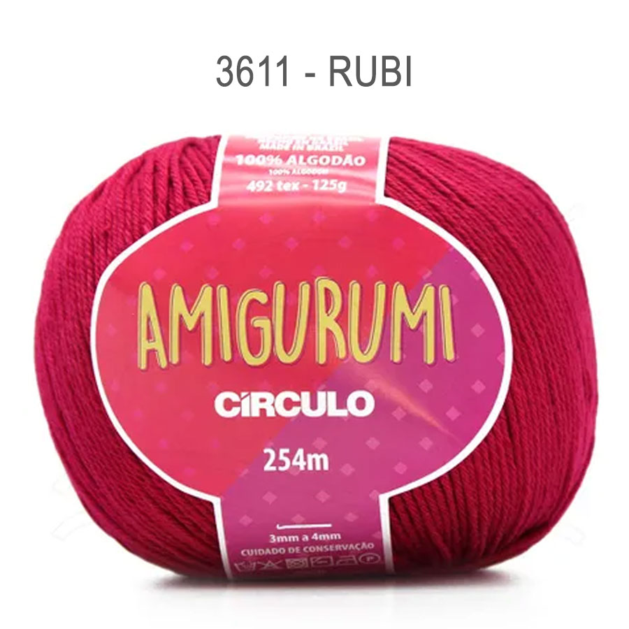 Linha Amigurumi 254m - Circulo - 3611 - Rubi