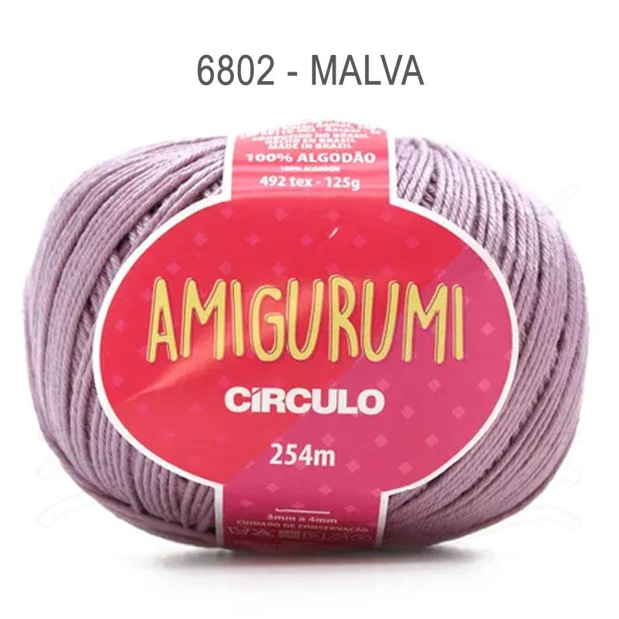 Linha Amigurumi 254m - Circulo - 6802 - Malva
