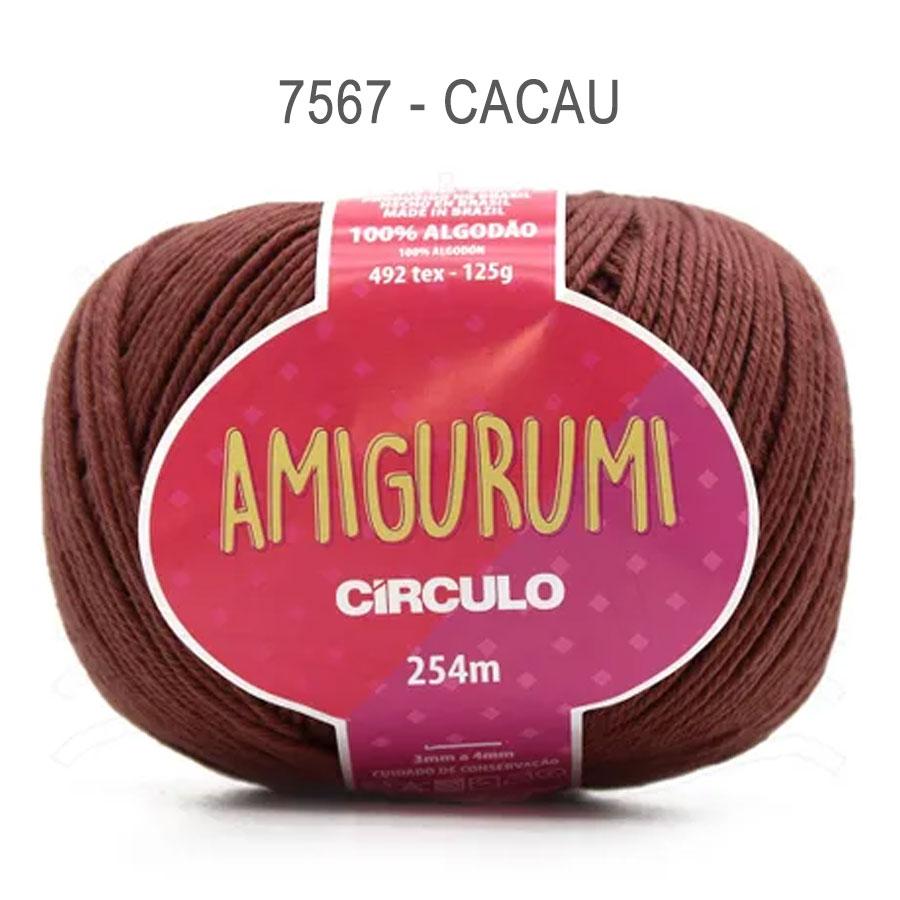 Linha Amigurumi 254m - Circulo - 7567 - Cacau