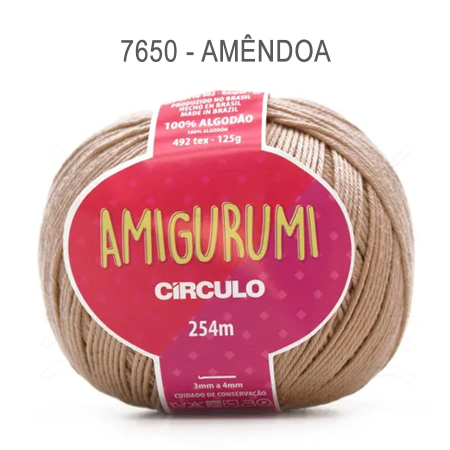 Linha Amigurumi 254m - Circulo - 7650 - Amêndoa