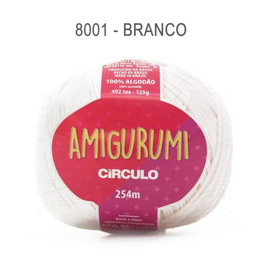 Linha Amigurumi 254m - Circulo - 8001 - Branco