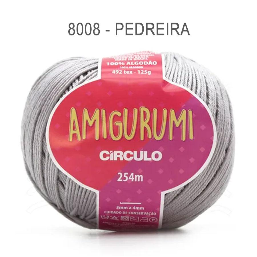 Linha Amigurumi 254m - Circulo - 8008 - Pedreira