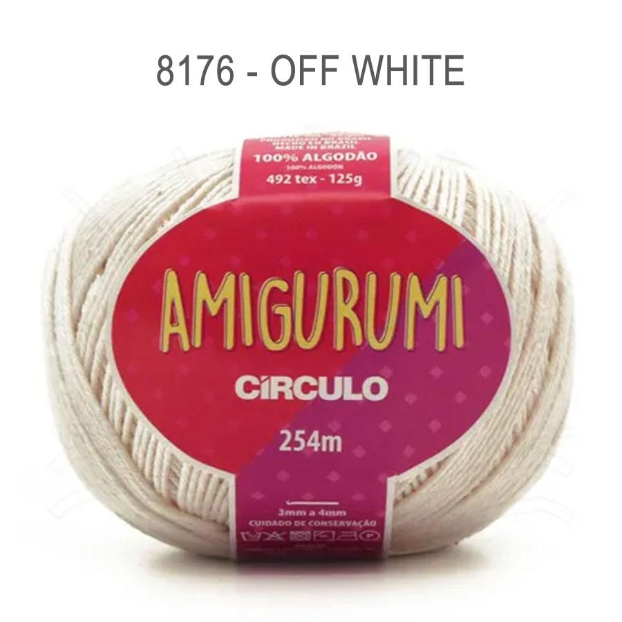 Linha Amigurumi 254m - Circulo - 8176 - Off White