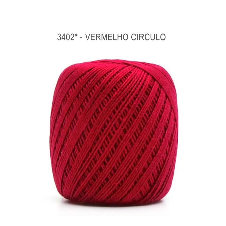 Linha Cléa 125 Cores Lisas - Circulo - 3402 - Vermelho Circulo