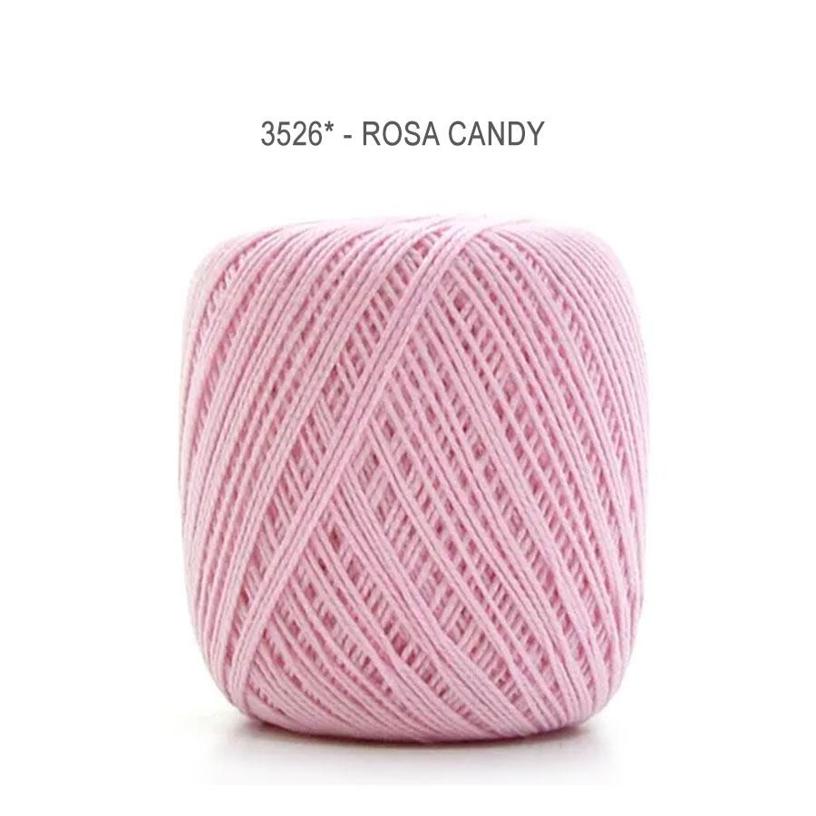 Linha Cléa 125 Cores Lisas - Circulo - 3526 - Rosa Candy