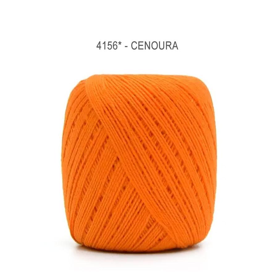 Linha Cléa 125 Cores Lisas - Circulo - 4156 -Cenoura
