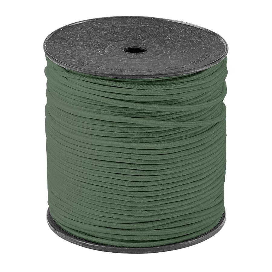 Elástico Verde Musgo Nº03 c/ 100m Roliço - Monitex
