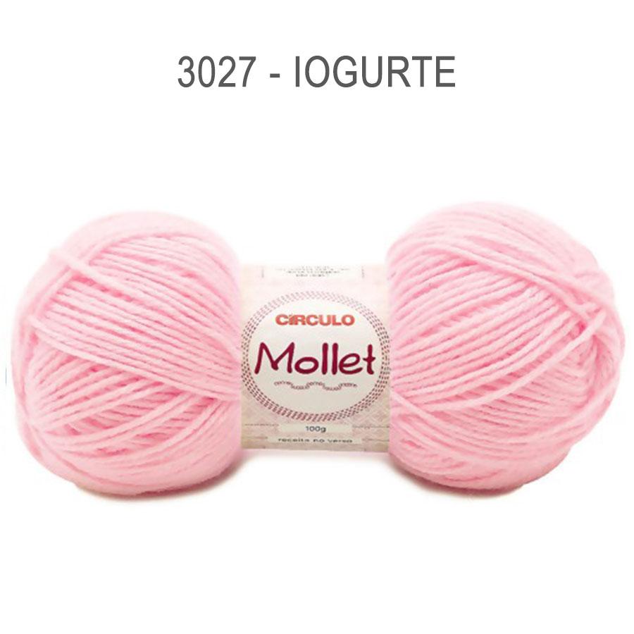 Lã Mollet 100g Cores Lisas - Circulo - 3027 - Iogurte