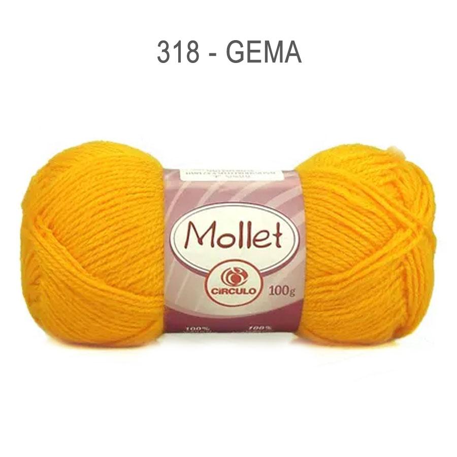Lã Mollet 100g Cores Lisas - Circulo - 318 - Gema