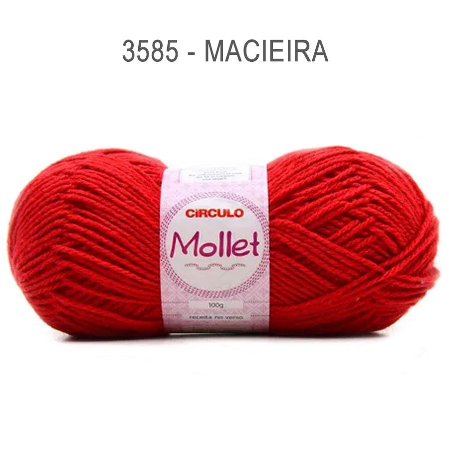 Lã Mollet 100g Cores Lisas - Circulo - 3585 - Macieira