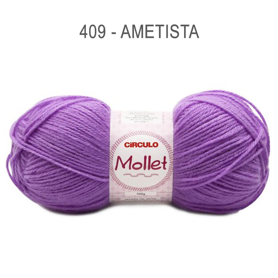 Lã Mollet 100g Cores Lisas - Circulo - 409 - Ametista